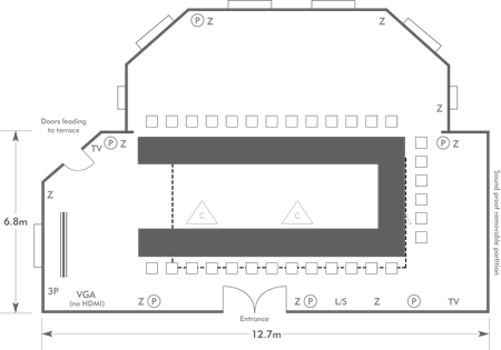 U-shape layout